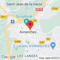 Carte / Plan Basilique Saint-Gervais d'Avranches