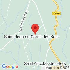 Carte / Plan Saint-Jean-du-Corail-des-Bois