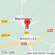 Carte / Plan Gare de Marchezais - Broué