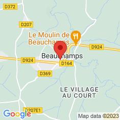 Carte / Plan Beauchamps (Manche)