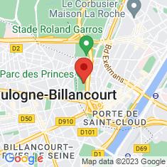 Carte / Plan Parc des Princes