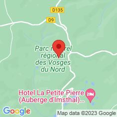 Carte / Plan Parc naturel régional des Vosges du Nord