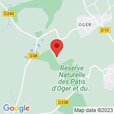 Carte / Plan Réserve naturelle nationale des pâtis d'Oger et du Mesnil-sur-Oger