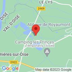 Carte / Plan Abbaye de Royaumont
