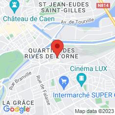 Carte / Plan Gare de Caen