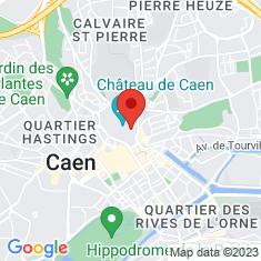 Carte / Plan Musée des beaux-arts de Caen
