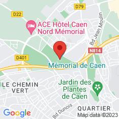 Carte / Plan Mémorial de Caen