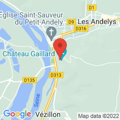 Carte / Plan Château Gaillard (Les Andelys)