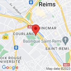 Carte / Plan Stade Auguste-Delaune