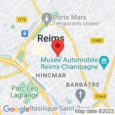 Carte / Plan Cathédrale Notre-Dame de Reims