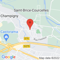 Carte / Plan Saint-Brice-Courcelles