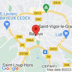 Carte / Plan Cathédrale Notre-Dame de Bayeux