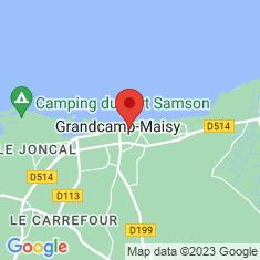 Carte / Plan Grandcamp-Maisy