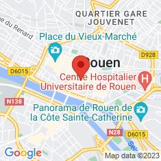 Carte / Plan Cathédrale Notre-Dame de Rouen
