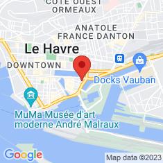 Carte / Plan Centre-ville reconstruit du Havre