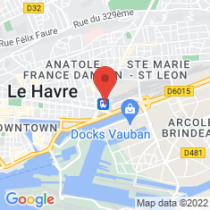 Carte / Plan Gare du Havre