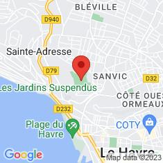 Carte / Plan Jardins suspendus (Le Havre)