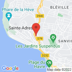 Carte / Plan Sainte-Adresse
