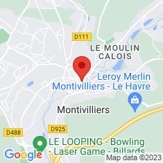 Carte / Plan Abbaye de Montivilliers