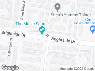 Map showing location of Brightside View (Westbound)