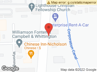 Map showing location of Nicholson-McClung (Outbound)