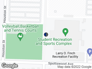 Map showing location of Recreation Center (Northbound)
