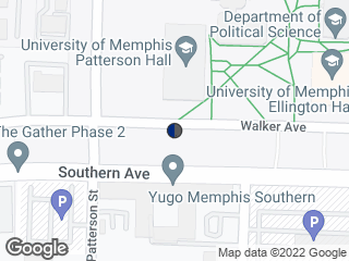Map showing location of Patterson Hall (Eastbound)