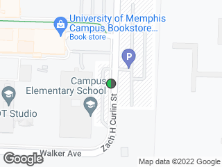 Map showing location of Zach Curlin Parking Garage (Southbound)