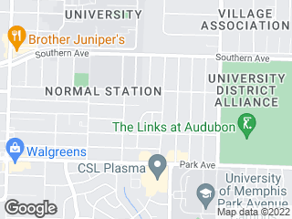 Map showing location of PA: Park Ave Campus Gray Route
