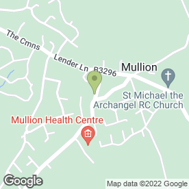Map of Mounts Bay Inn in Mullion, Helston, cornwall