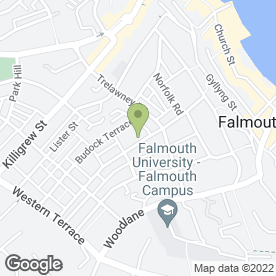 Map of Carpet Fitter Falmouth in Falmouth, cornwall