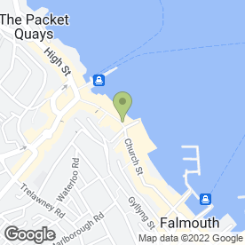 Map of Hawkshead in Falmouth, cornwall