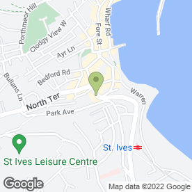 Map of Subway Sandwiches in St. Ives, cornwall