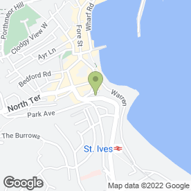 Map of CVC Solicitors in St Ives, cornwall