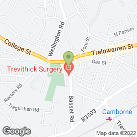 Map of White Rose Dental Practice in Camborne, cornwall