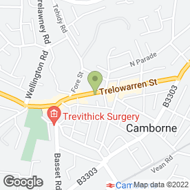 Map of Specsavers Hearing Centres in Camborne, cornwall