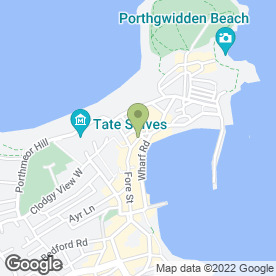 Map of F.H Ferrell in St. Ives, cornwall