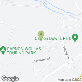 Map of Carnon Downs Surgery in Carnon Downs, Truro, cornwall