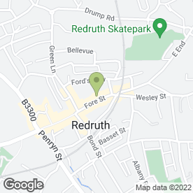 Map of Revive in Redruth, cornwall