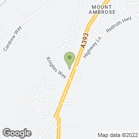 Map of Kanow Security Services Ltd in Mount Ambrose, Redruth, cornwall