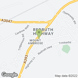 Map of The Mount Ambrose Inn in Redruth, cornwall