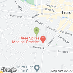 Map of TW Builders in Truro, cornwall