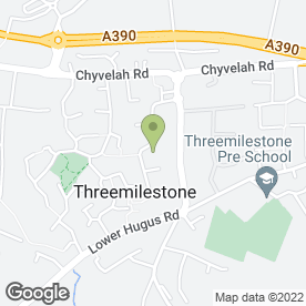 Map of ELITE HAIR & BEAUTY in Threemilestone, Truro, cornwall