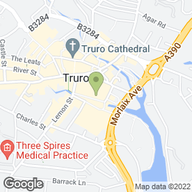 Map of Manolo's Tapas Bar in Truro, cornwall