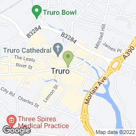 Map of Count House Antiques in Truro, cornwall