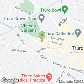 Map of Eastern Dragon Chinese Takeaway in Truro, cornwall