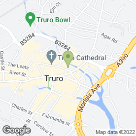 Map of Douglas Hughes Fine Jewellery in Truro, cornwall