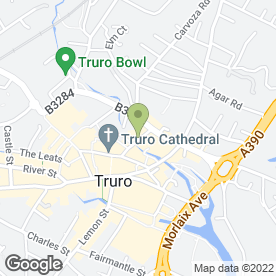 Map of JK Lettings Ltd in Truro, cornwall
