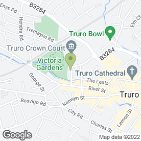 Map of A 2 B Removals in Truro, Truro, cornwall