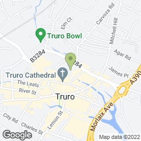 Map of Cathedral Dental Practice in Truro, cornwall